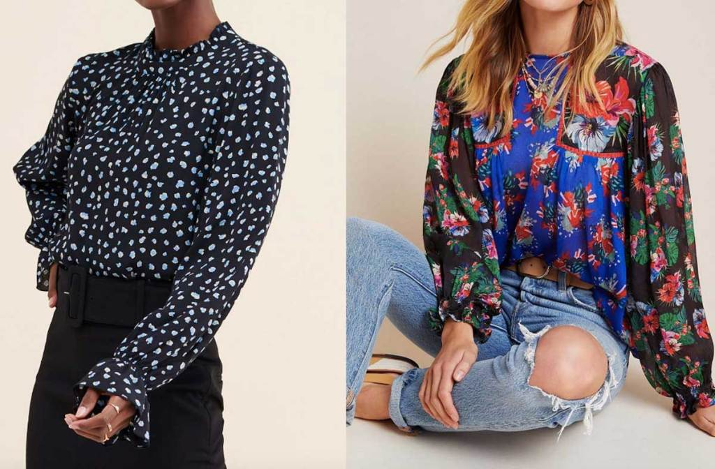 women models with floral and print shirts