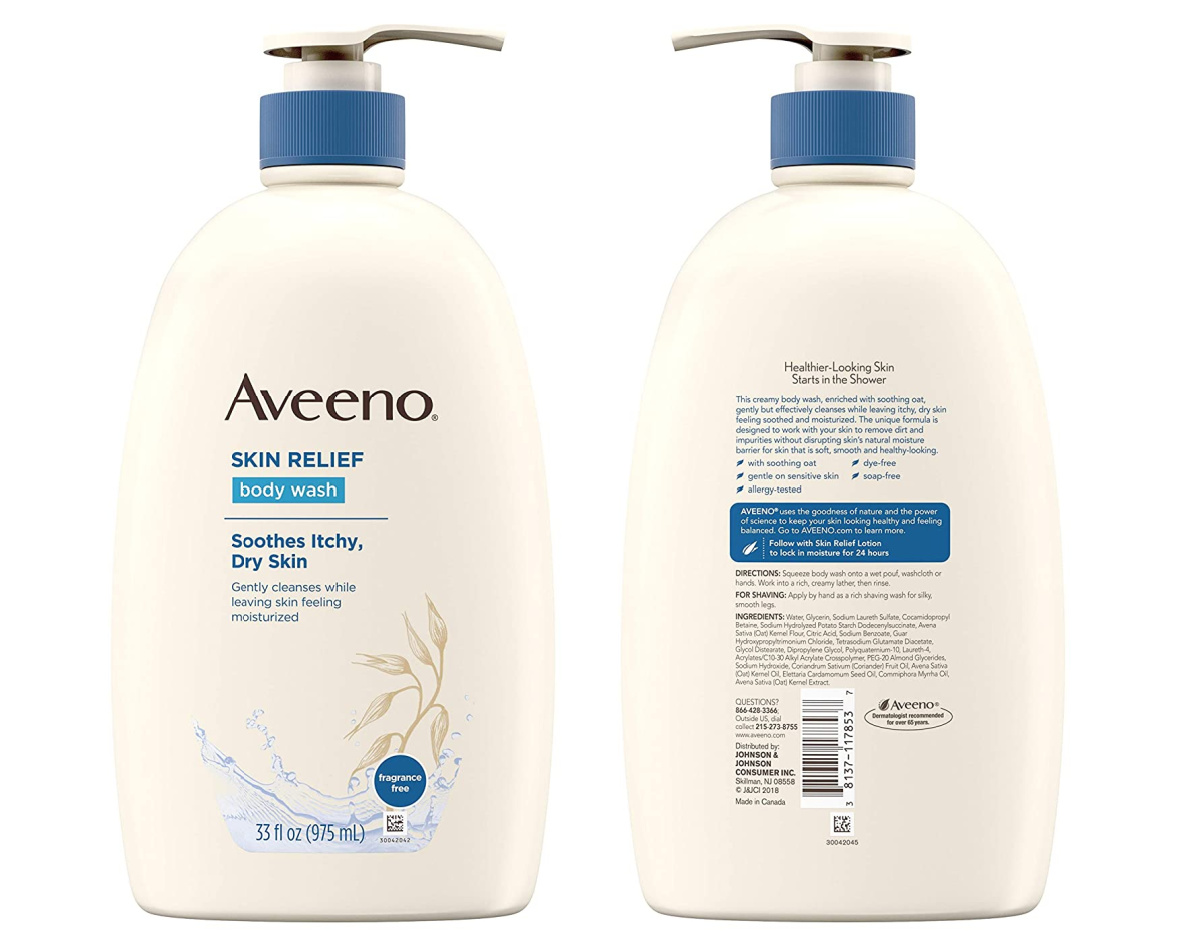 aveeno body wash front and back in bottle