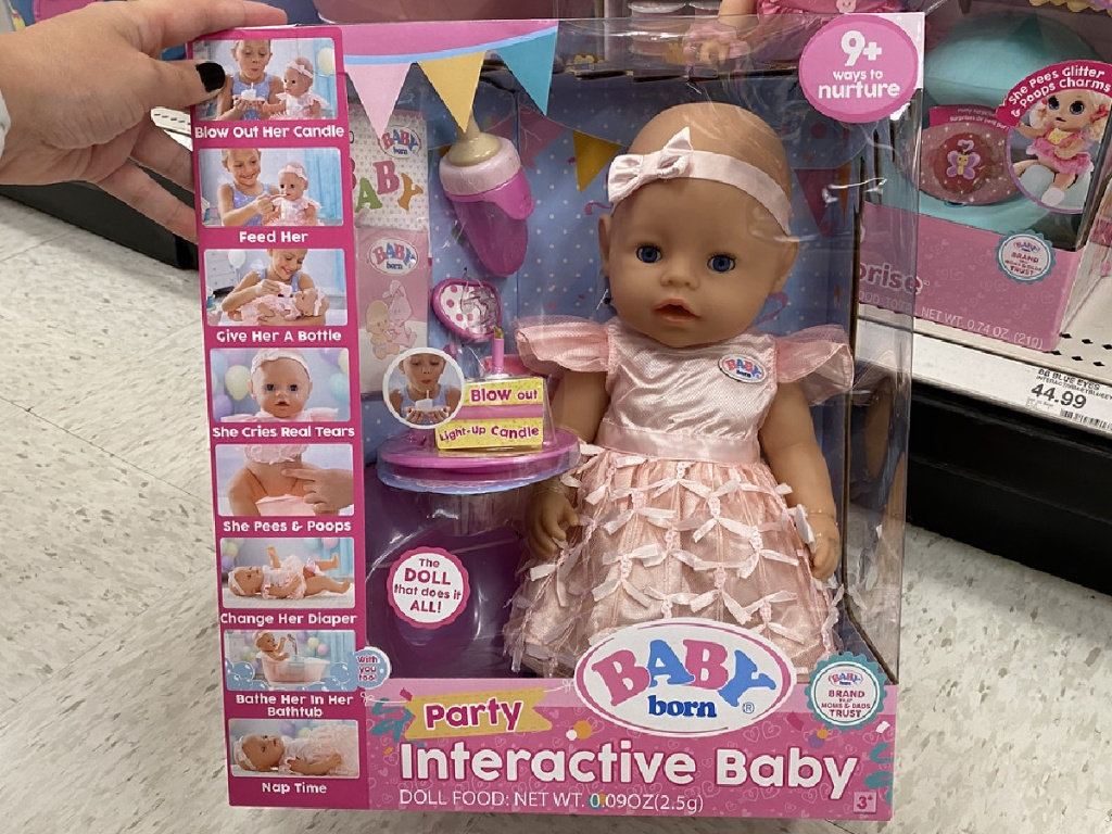 baby doll in package at store