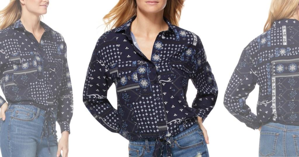 bandana blouse at walmart