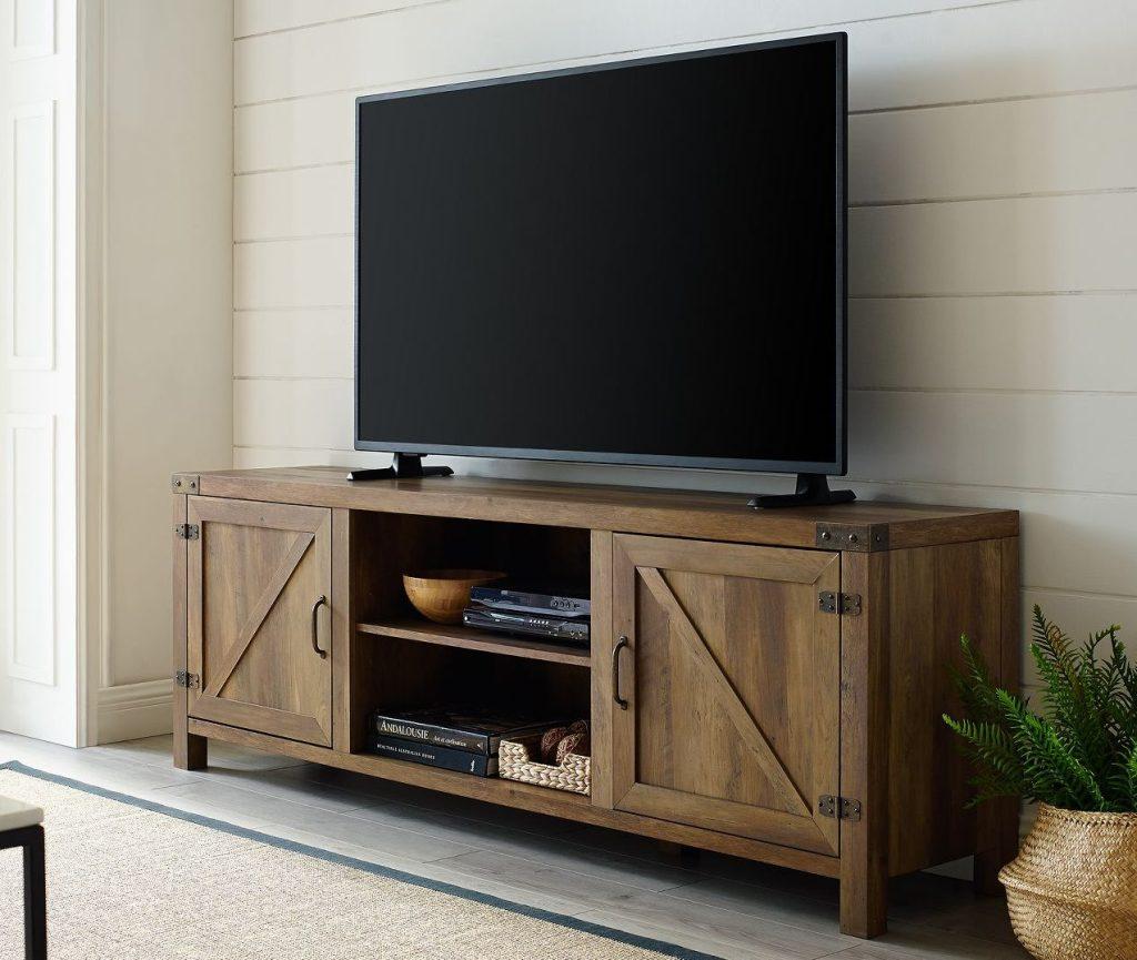 saracina home from target barn door tv stand