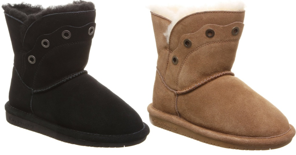 bearpaw kids boots tan and brown