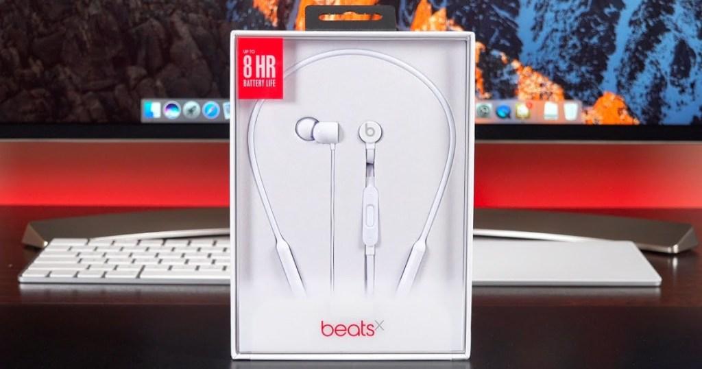 beatsx headphones white in box
