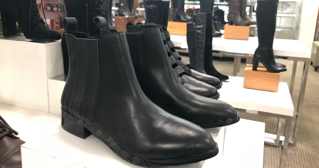 black boots in store at macys