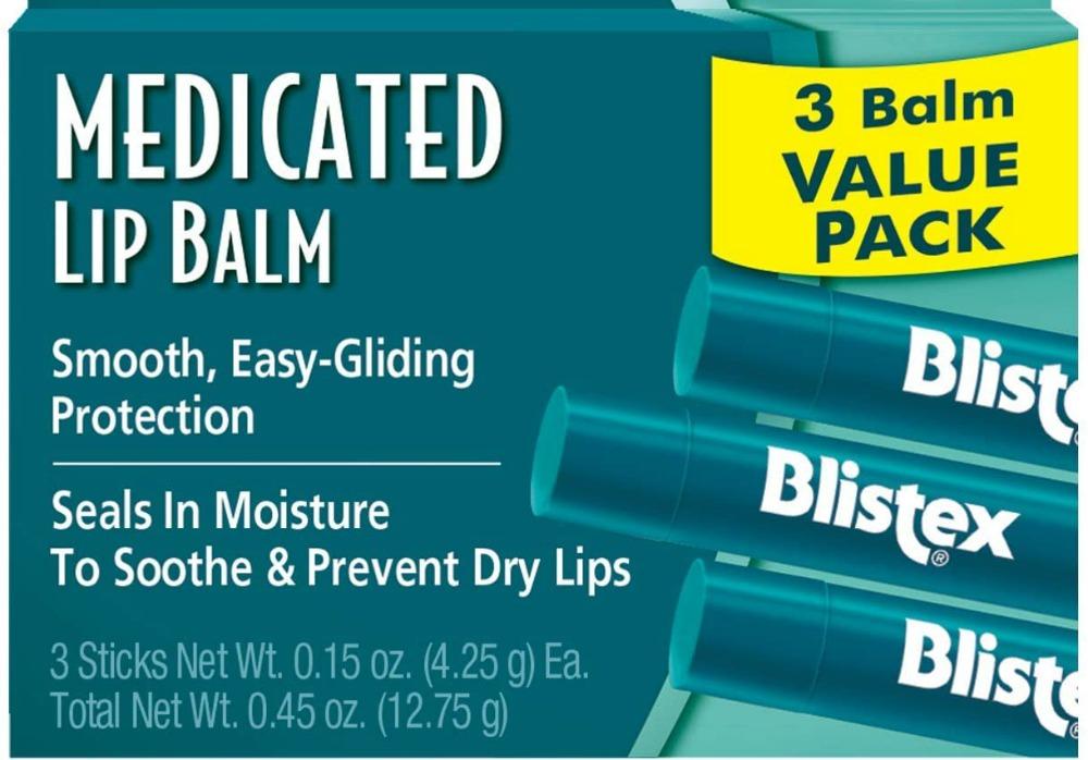 stock image of blistex lip balm packaging