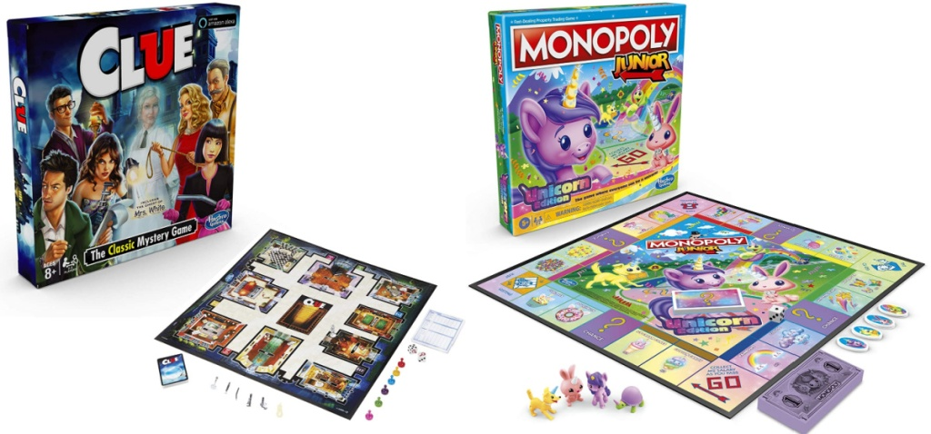 clue and monopoly board games