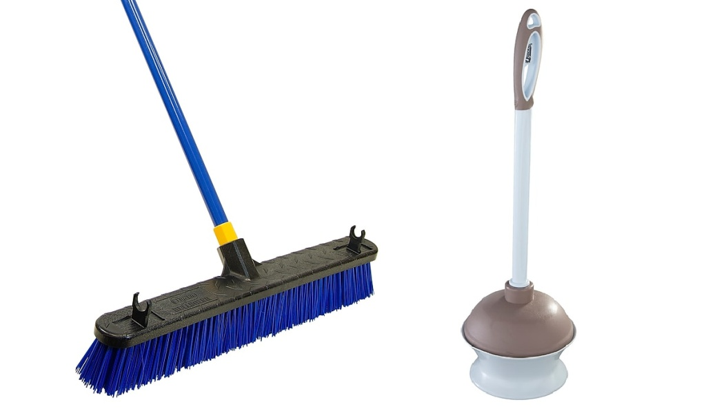 broom and plunger
