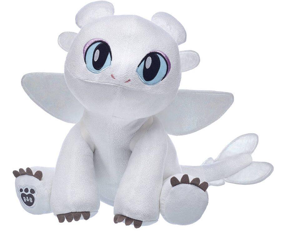 build a bear light fury white dragon plush