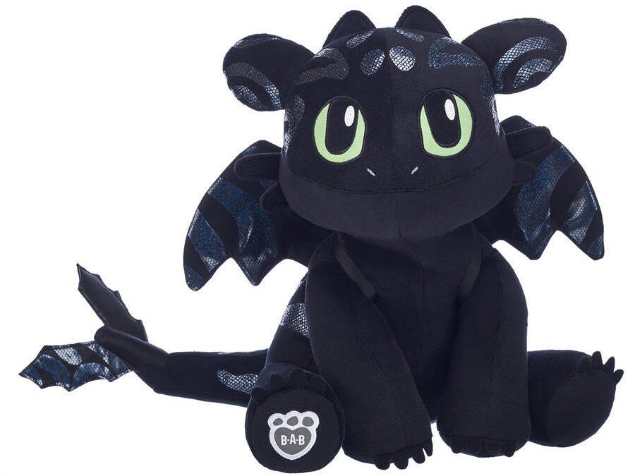build a bear toothless black dragon plush