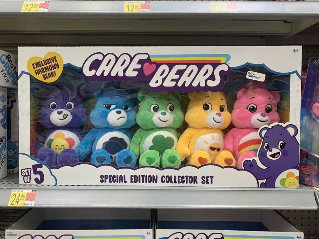 Care Bears special edition set on Walmart store shelf