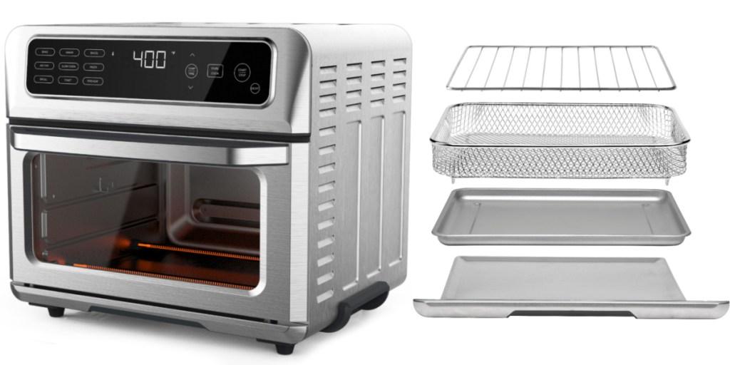chefman air fryer + accessories