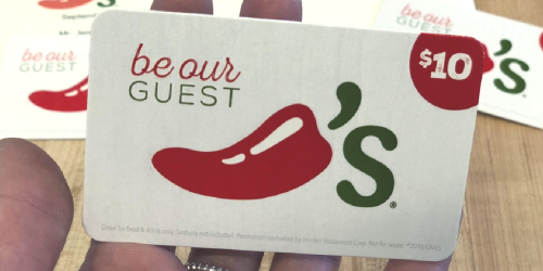 2 FREE $10 Chili's eGift Cards w/ $50 Gift Card Purchase