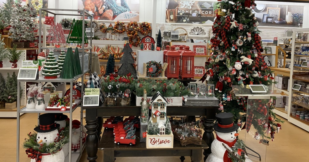 christmas decor at kohls in store