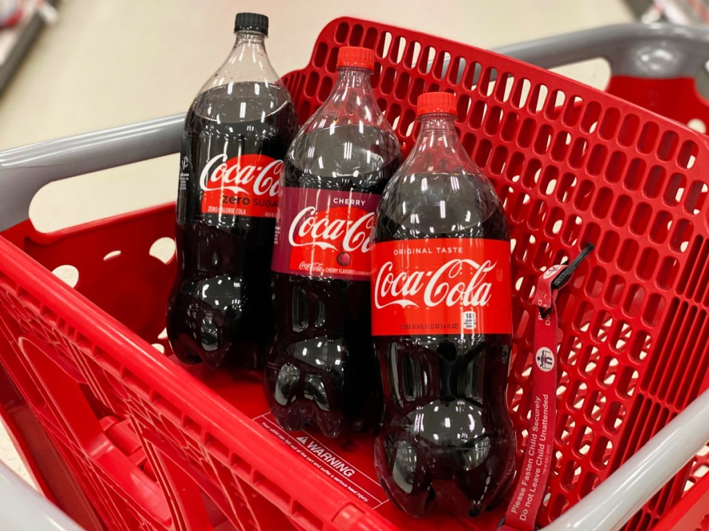 coke 2-liters in target cart