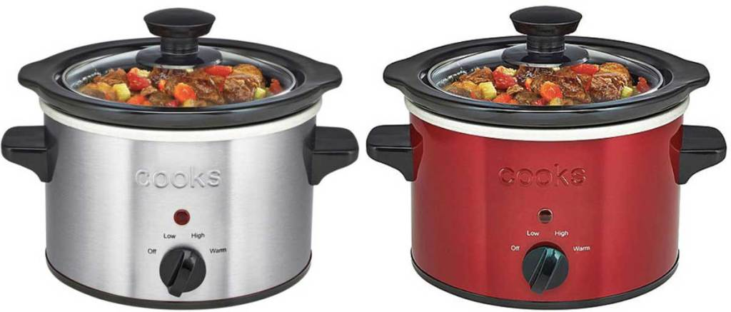 crock pot stainless steel or red