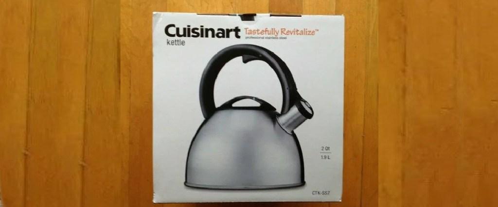 cuisinart tea kettle in box