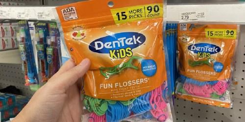 Only 95¢ for DenTek Kids Flossers at Target | 65% Savings