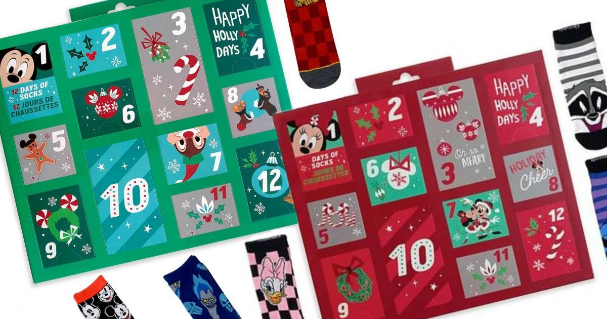 stock images of disney sock advent calendars