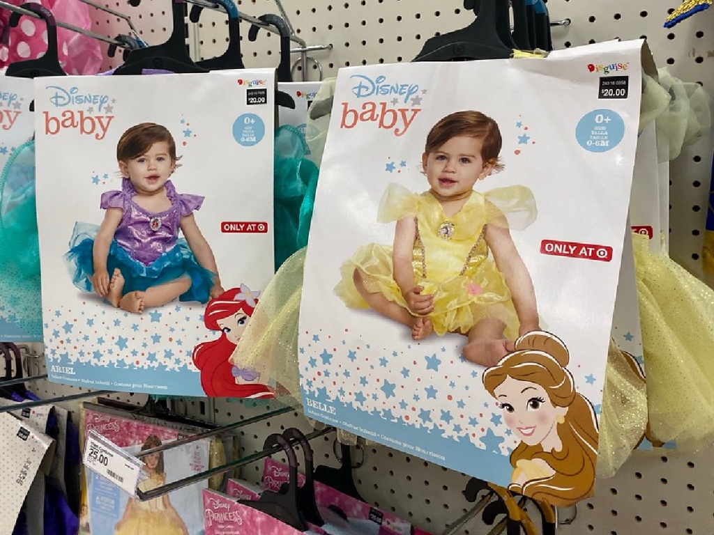 store display of baby costumes