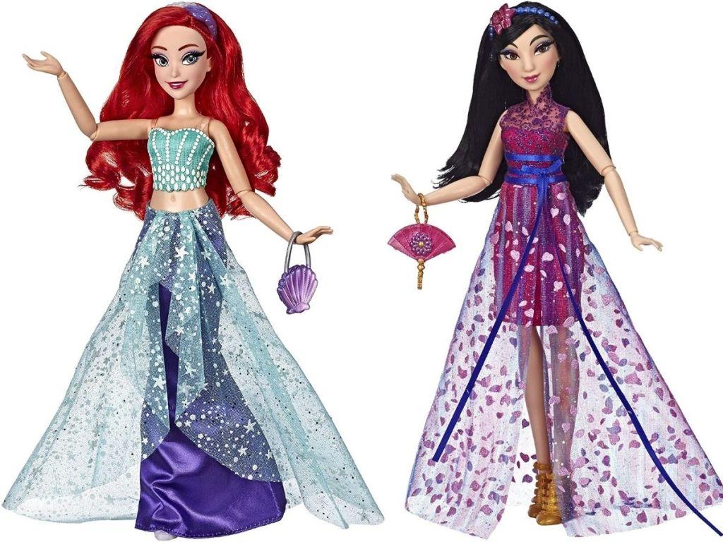 Ariel and Mulan doll