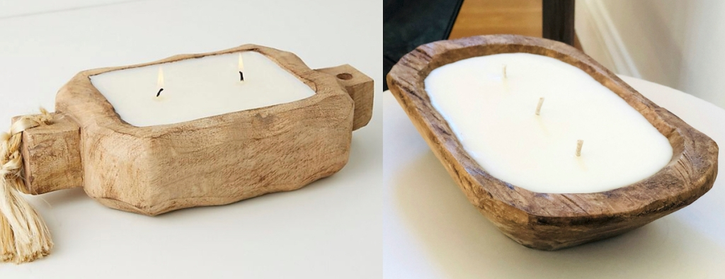 side by side of dough bowl candles