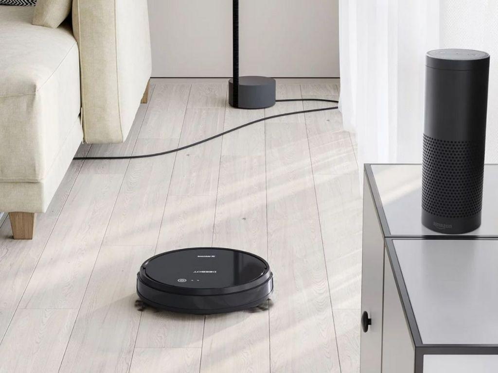 robot vacuum cleaning hardwood floor