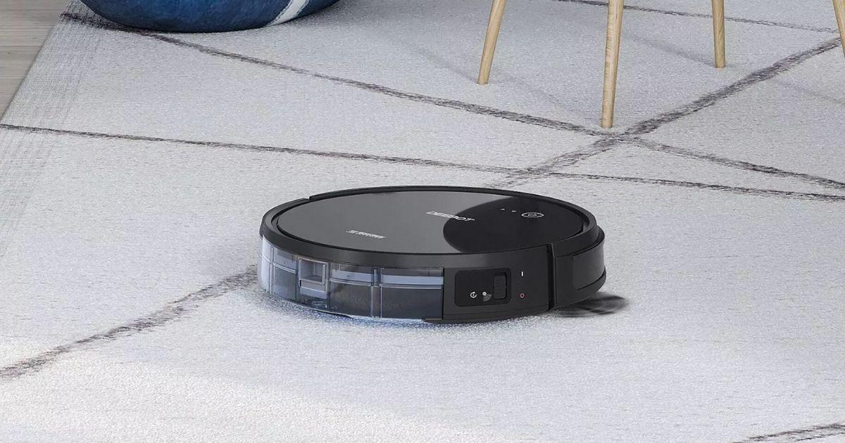 robot vacuum cleaning carpet
