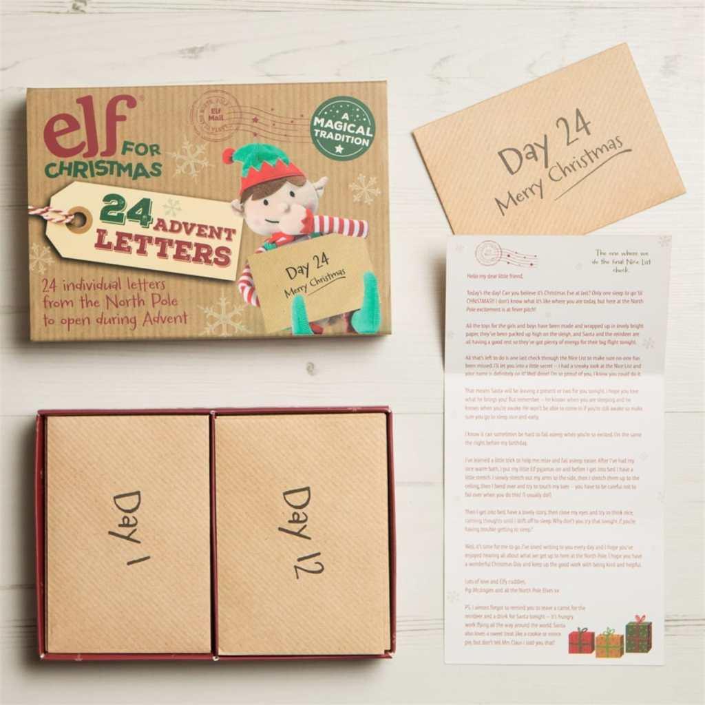 elf letter advent calendar