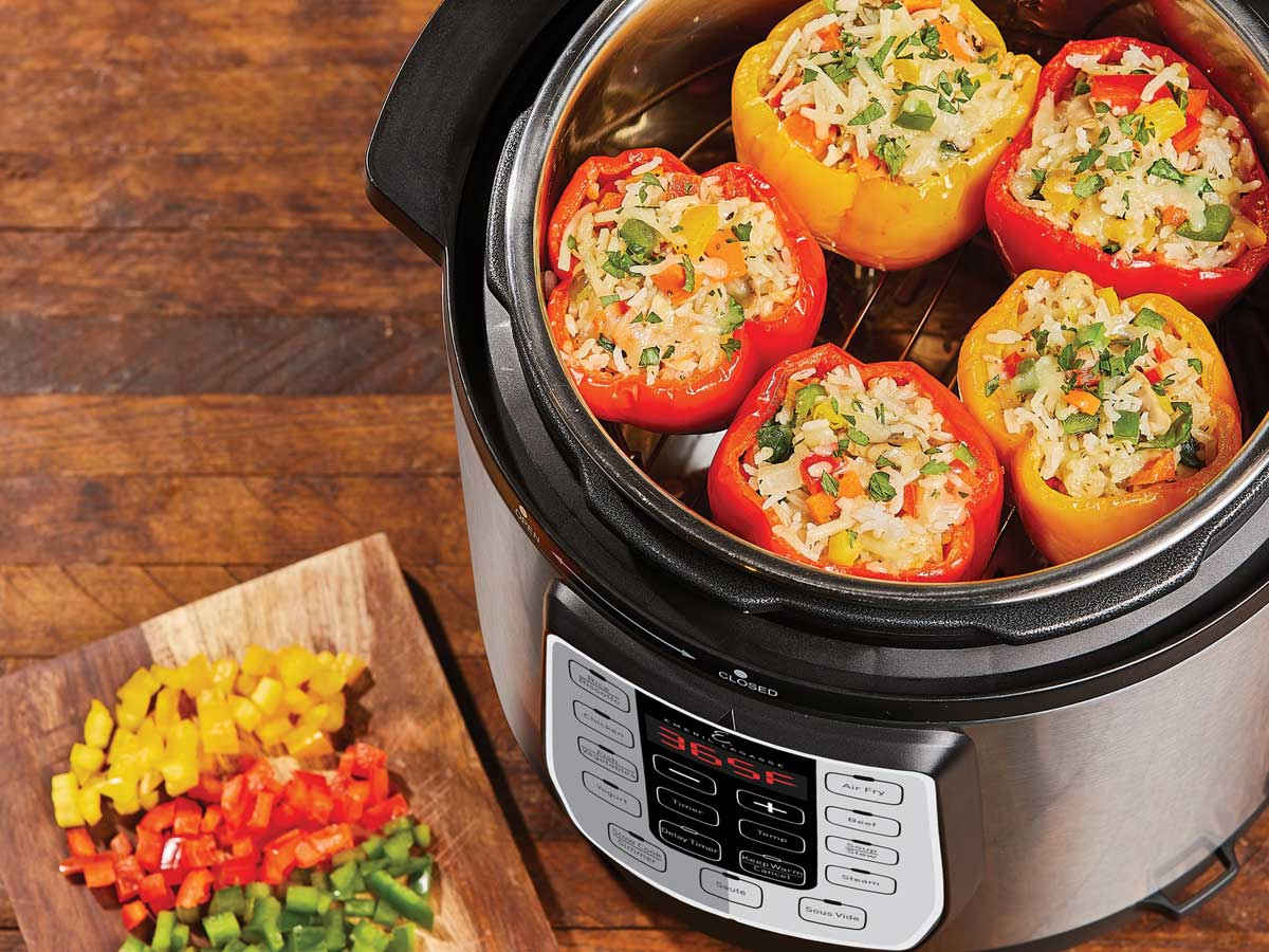stuffed peppers in an air fyer