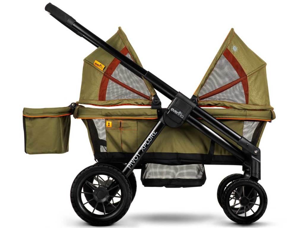 pivot xplore stroller in green stock image