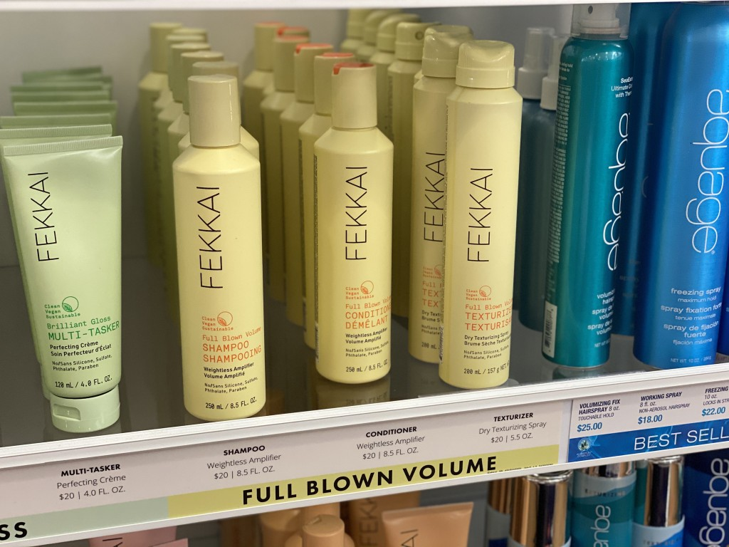 fekkai collection hair products on shelf at ULTA store