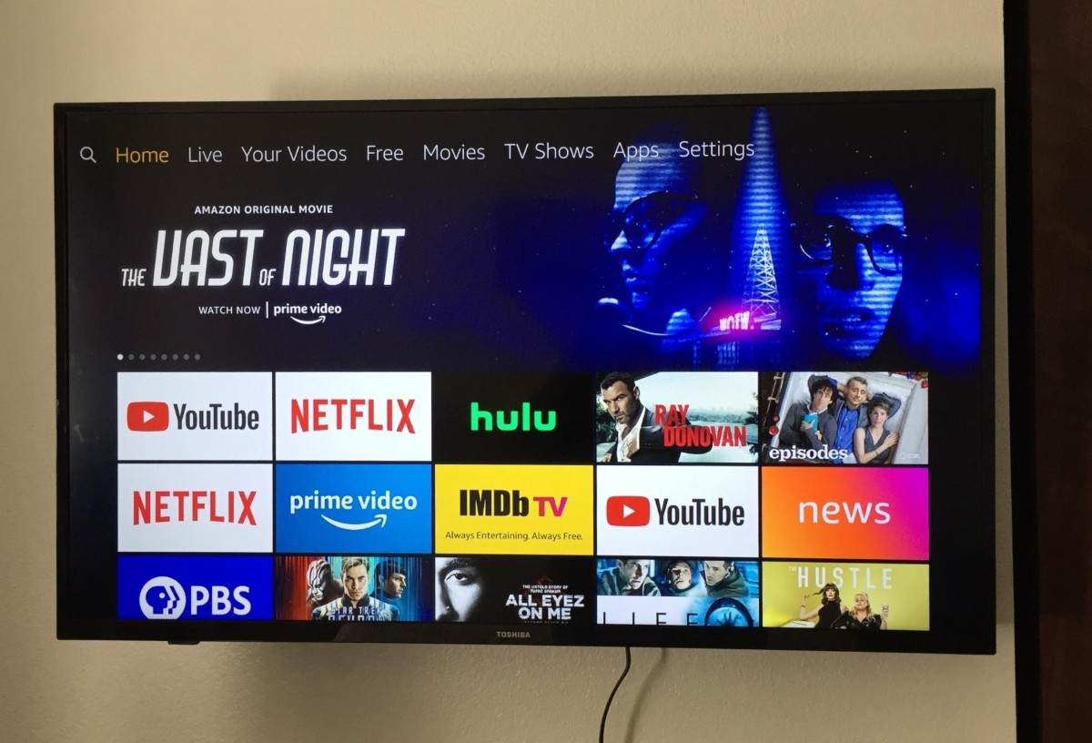 Fire TV Edition Smart TV showing Prime Video content