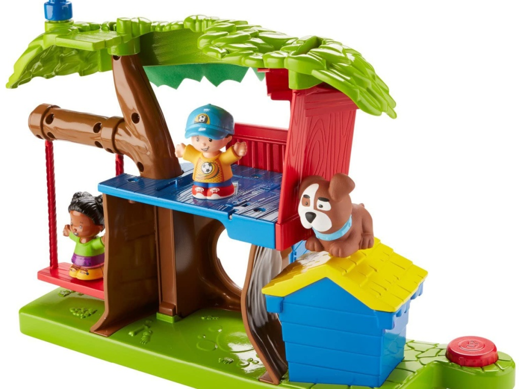 plastic toy playhouse that looks like a treehouse