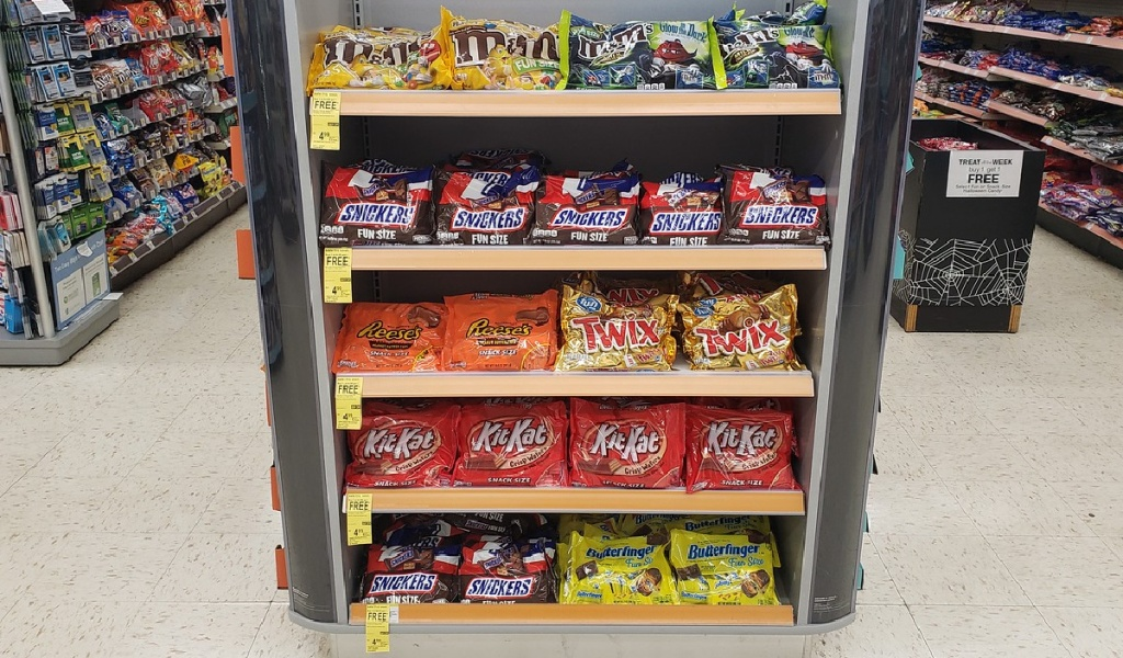 fun size bags of candy at Walgreens