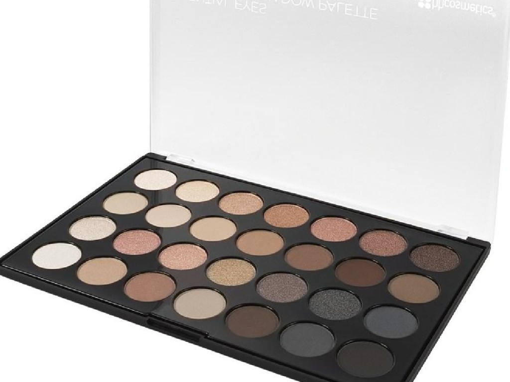 make up palette with lots of neutral colors