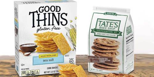 2 Good Thins Crackers Boxes + 2 Tate's Bake Shop Cookies Packs Only $11.60 Shipped on Amazon   Gluten-Free Snacks
