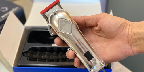 Professional Stainless Steel Hair Clipper Set w/ 6 Attachments & Cape Only $32.89 Shipped on Amazon