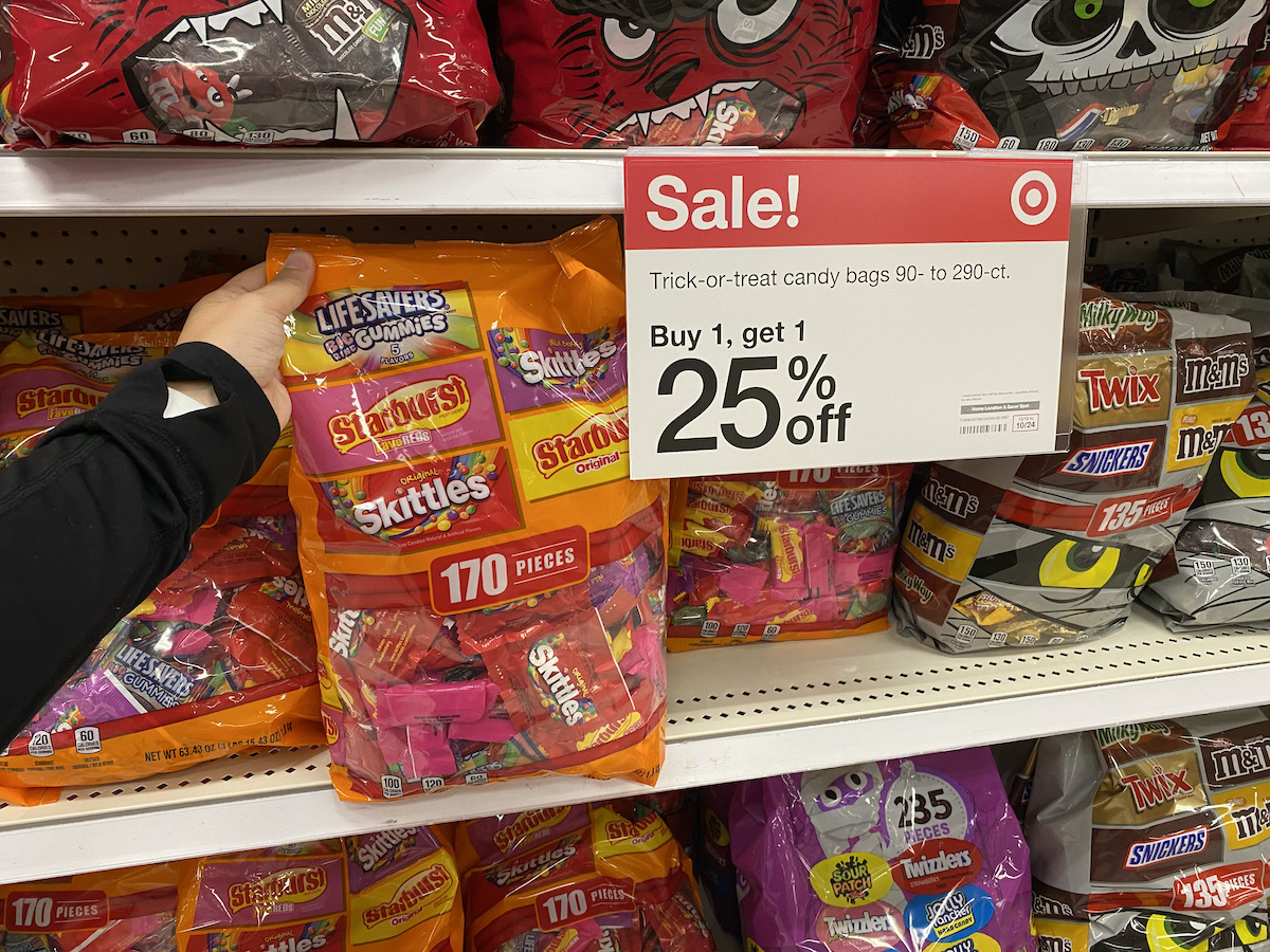 hand holding halloween candy target