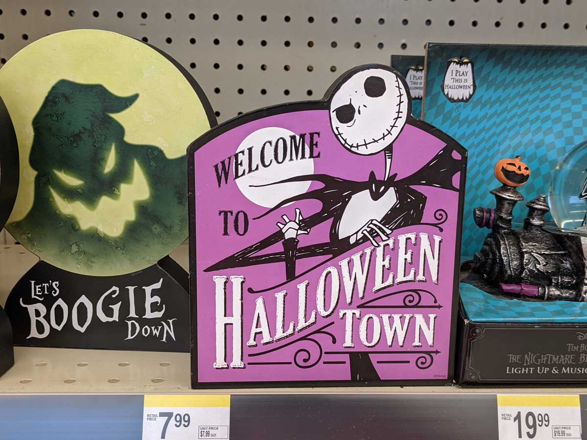 Disney Nightmare Before Christmas Halloween décor sign
