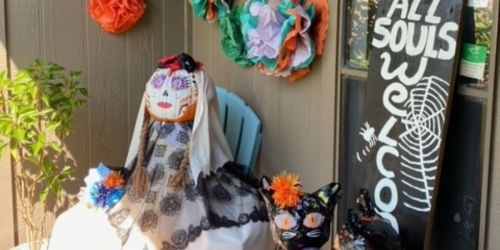 This Reader Spent Less than $10 to Create a Halloween-Themed Front Porch