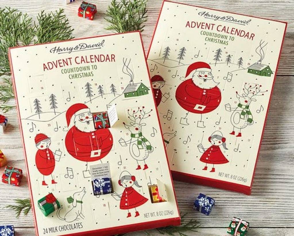 harry and david advent calendars with presents inside