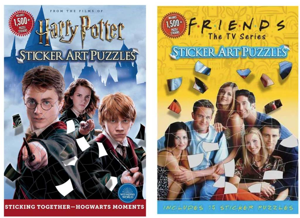 harry potter and friends sticker art puzzles