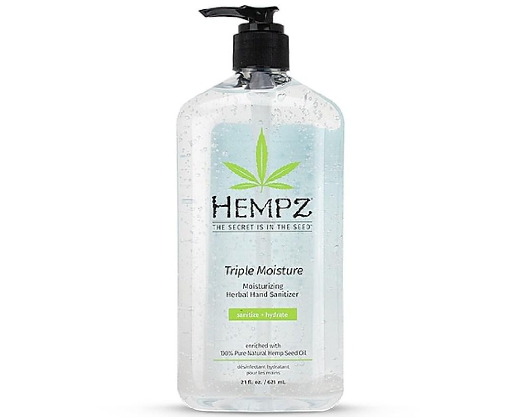 hempz gel sanitizer with pump top