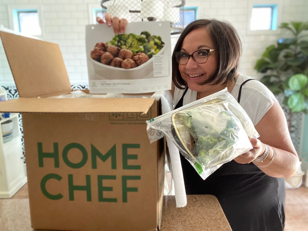 Woman with Home Chef Oven Ready meals