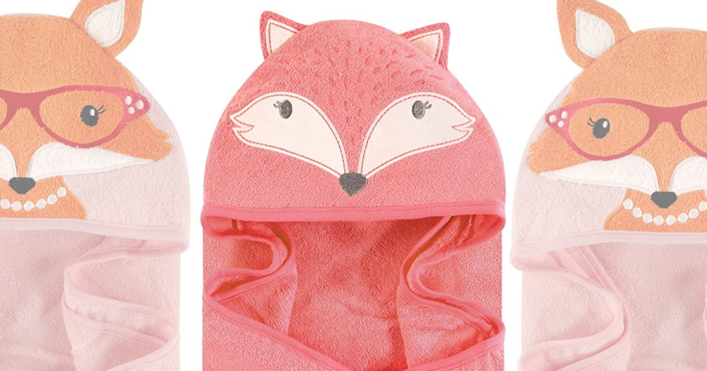 hudson hooded towels in foxes
