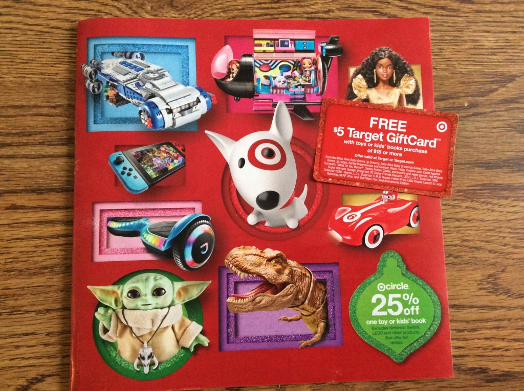 Check Your Mailbox For Target S 2020 Holiday Toy Catalog Includes Free Gift Card Coupon For Up To 10 Hip2save