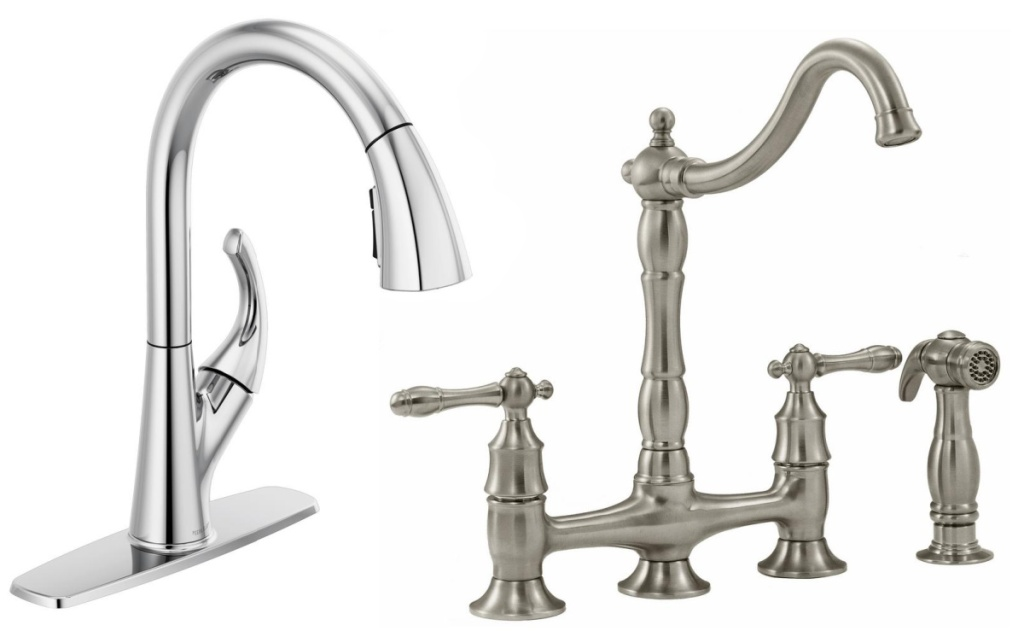 two kitchen faucets