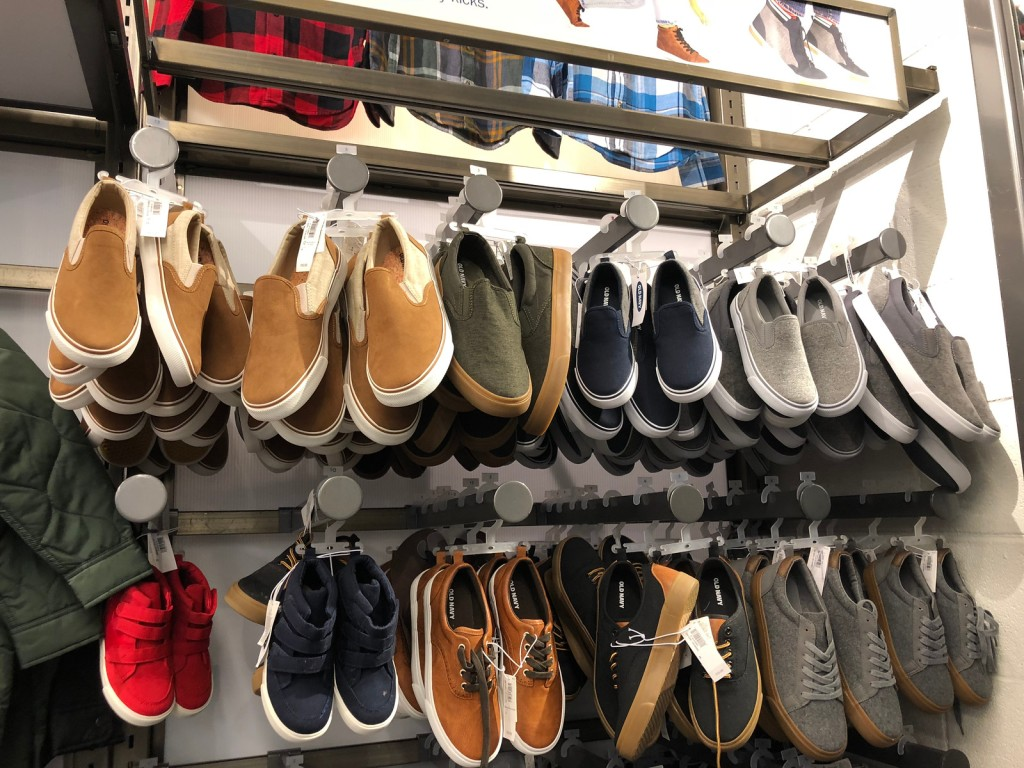 kids shoes in store at old navy