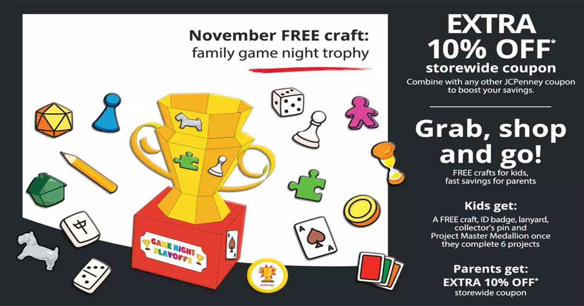 promotion of family game night trophy
