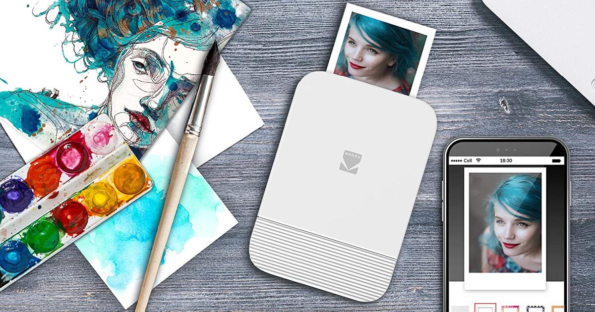 kodak instant printer white printing photo